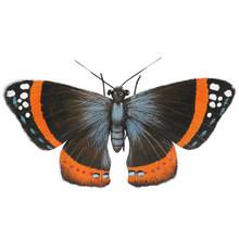 Brown Butterfly Hanging Metal Wall Art 46cm