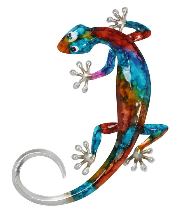 Stunning Colour Gecko Metal Wall Art 32cm
