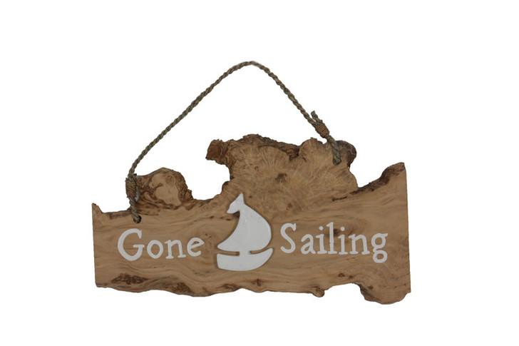 Coffee Wood Gone Sailing Sign