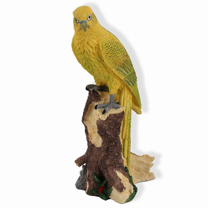 Yellow Parrot Garden Statue 36 cm