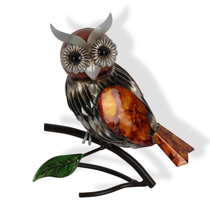 Owl Metal Statue 23cm