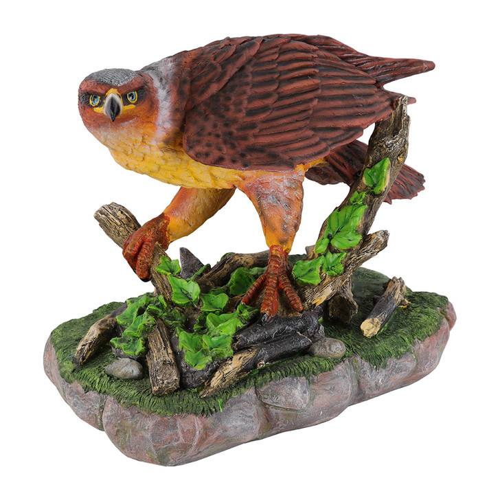 Eagle On A Tree Log Statue 55cm