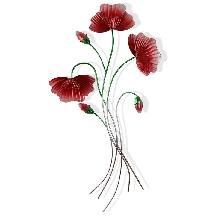 Poppies Blooming Metal Art 72cm