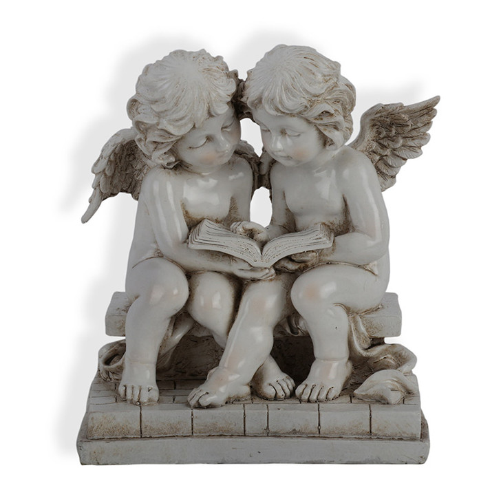 Pair Of Angels Statue 25cm