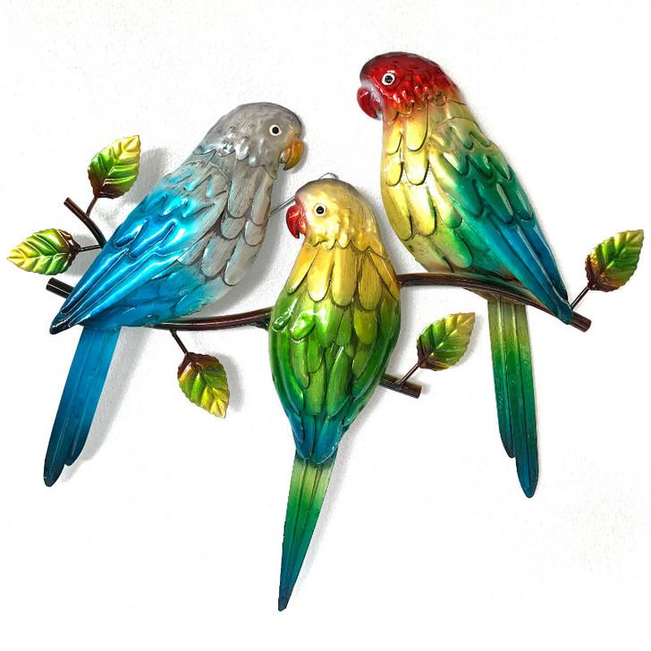The Love Bird Trio Metal Wall Hanging