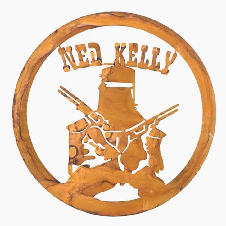 Ned Kelly Hanging Metal Wall Art cm