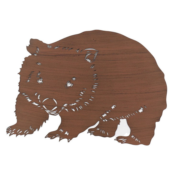 Australian Wombat Metal Wall Art 48cm