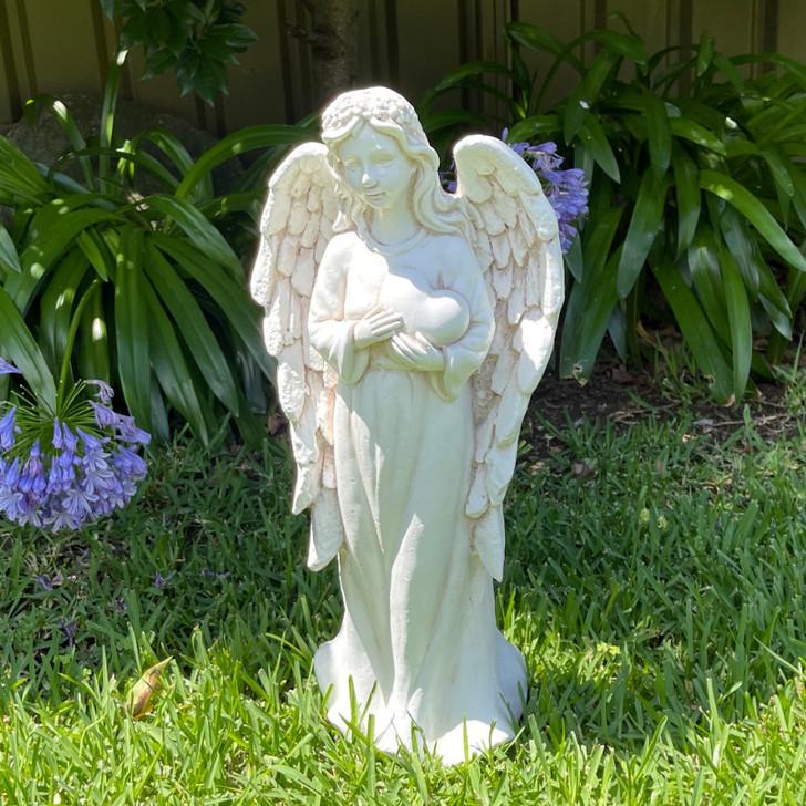 Angel Holding Heart Garden Statue 63cm