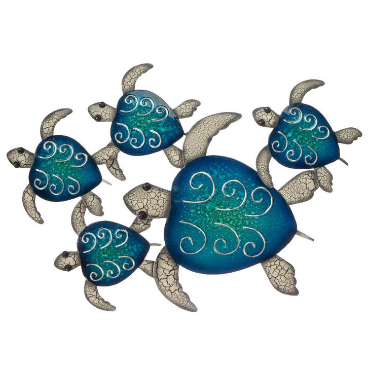 Turtles Day Out 65cm  Metal Wall Art