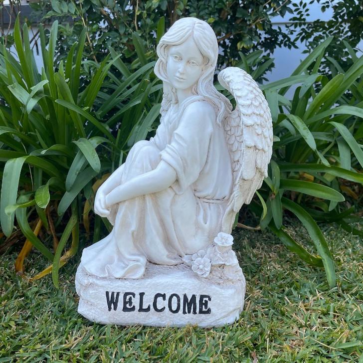 Angel Welcome Garden Statue 48cm