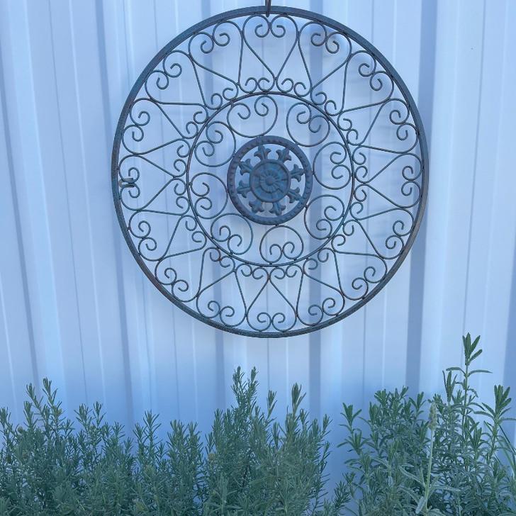 Circle Scroll Metal Wall Art 57cm
