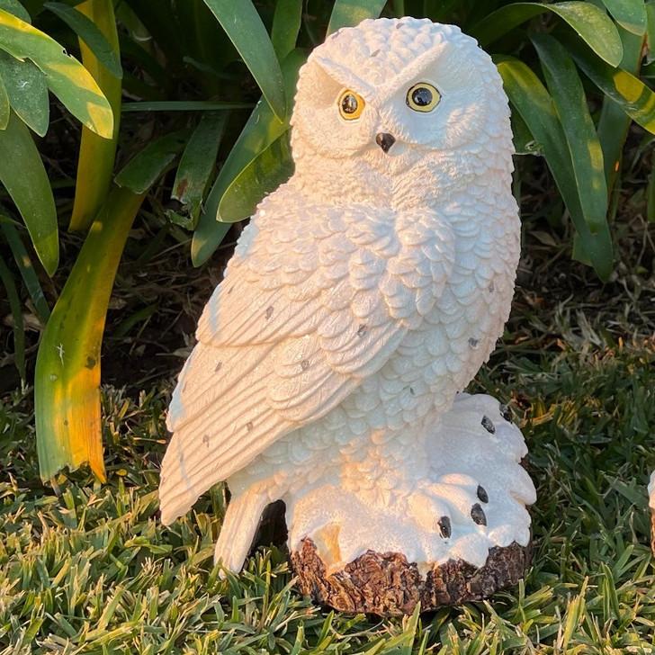 Snow Owl Garden Statue 30cm