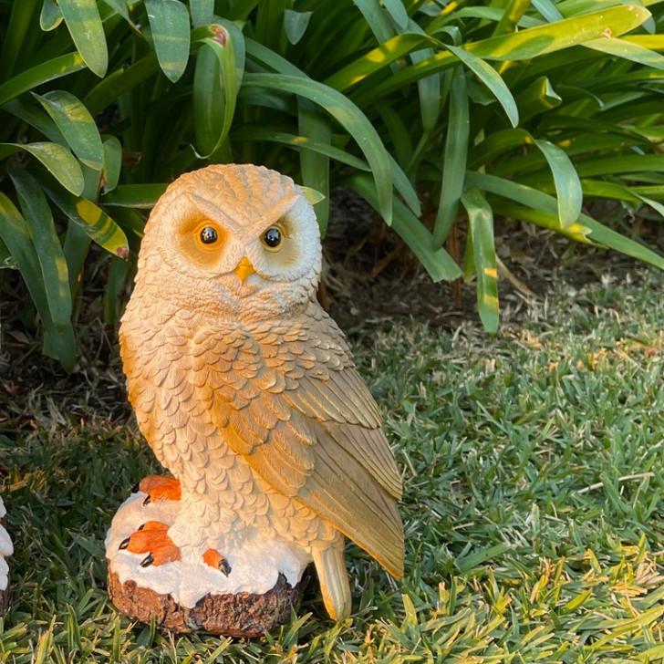 Majestic Owl Brown garden Statue 30cm