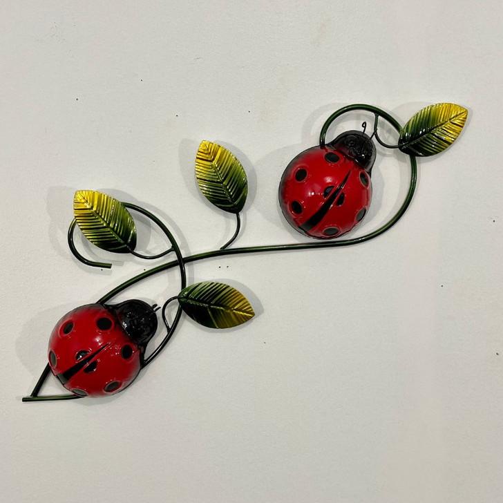 Ladybeetle Hanging Metal Wall Art