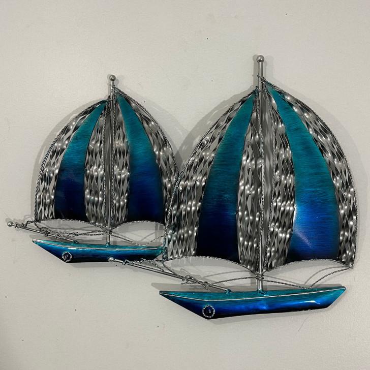 Sailing Boats Metal Wall Art 49cm