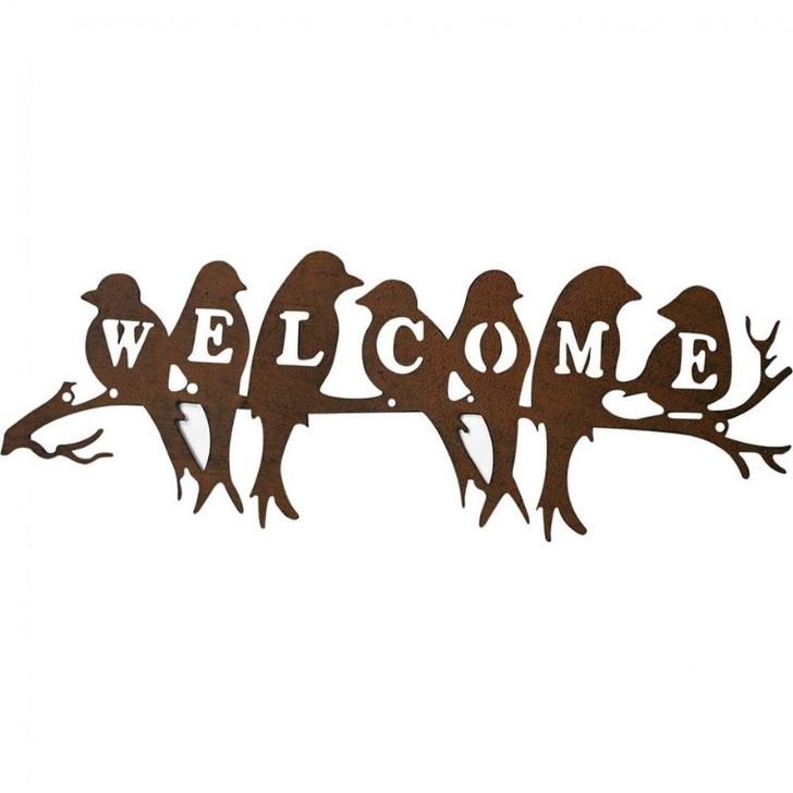 Welcome Birds Metal Wall art 66cm