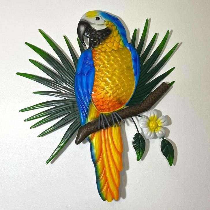 Parrot Macaw Metal Wall Art 46cm