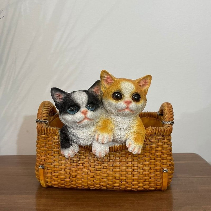 Cats In A Basket Statue 22cm