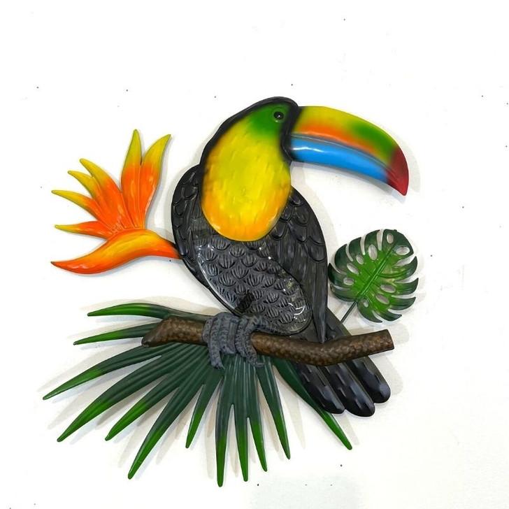 Toucan Parrot Metal Wall Art 43cm