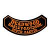 Deadwood Harley-Davidson® Small Rocker Emblem Patch