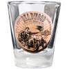 Deadwood Harley-Davidson® Bronze Coin Shotglass Short