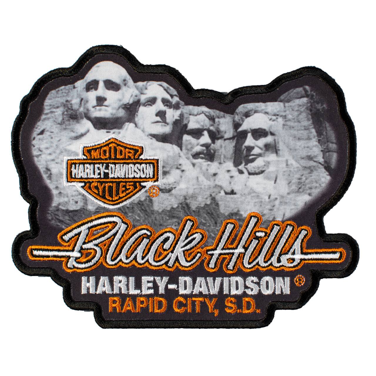 Black Hills Harley Davidson® Mt. Rushmore Emblem Patch