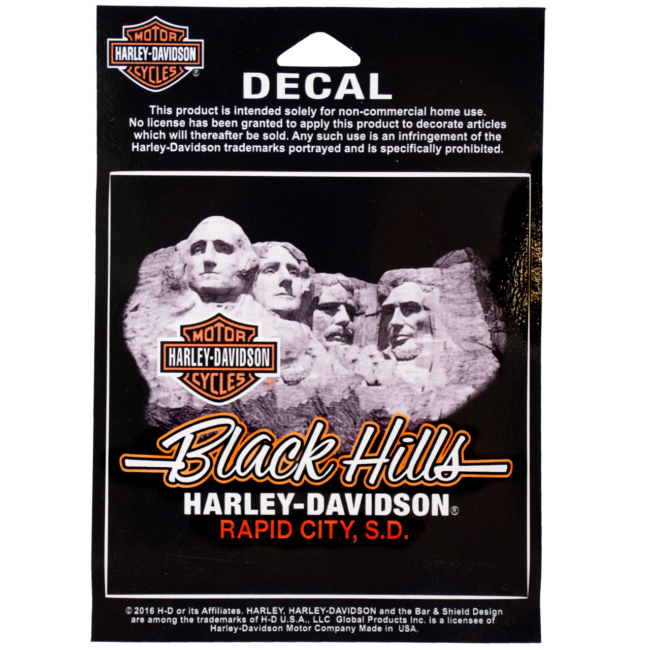 Black Hills Harley Davidson® Mt. Rushmore Decal