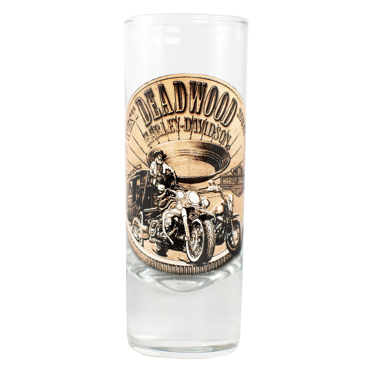 Deadwood Harley-Davidson® Bronze Coin Shotglass Tall