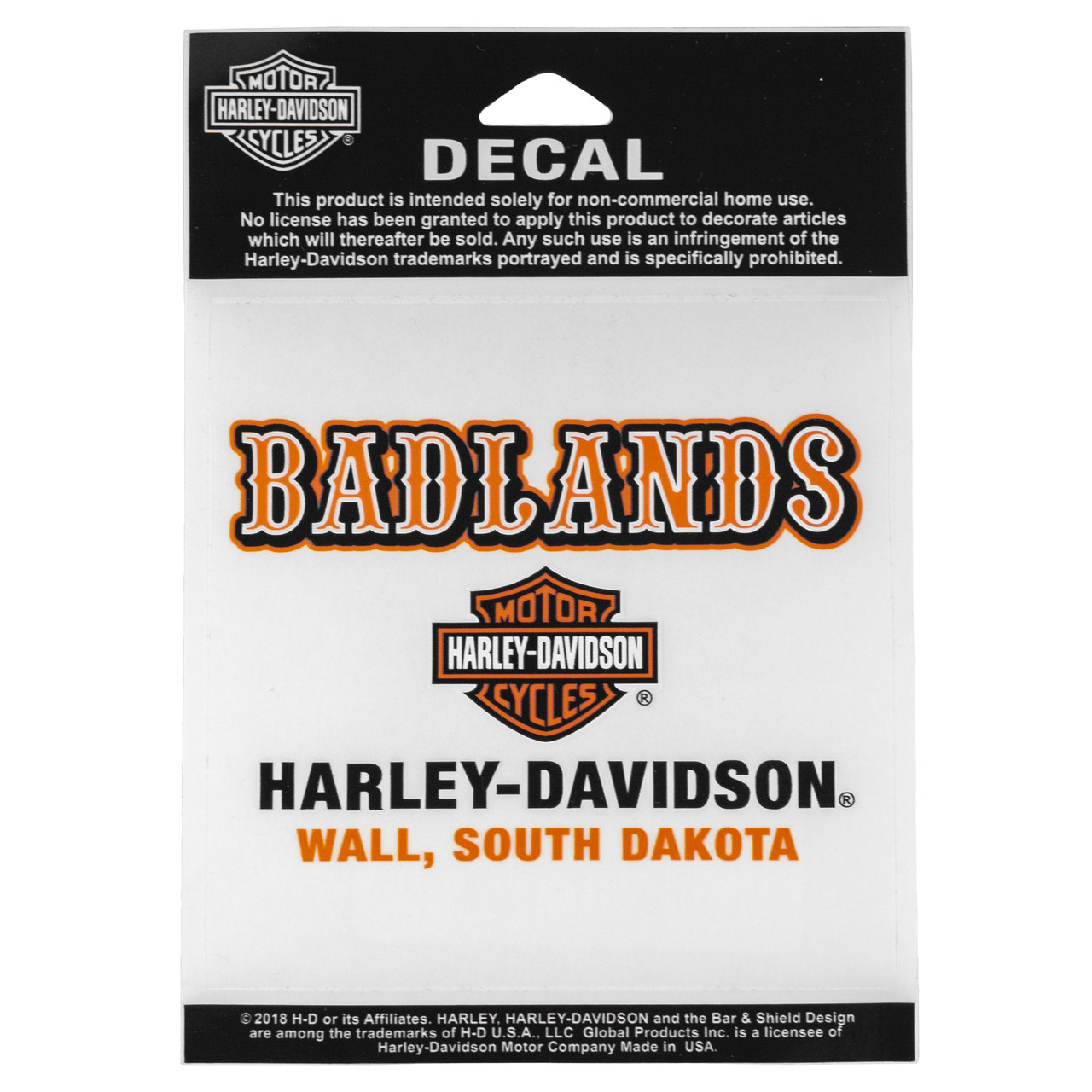 Badlands Harley-Davidson® Western Font Decal