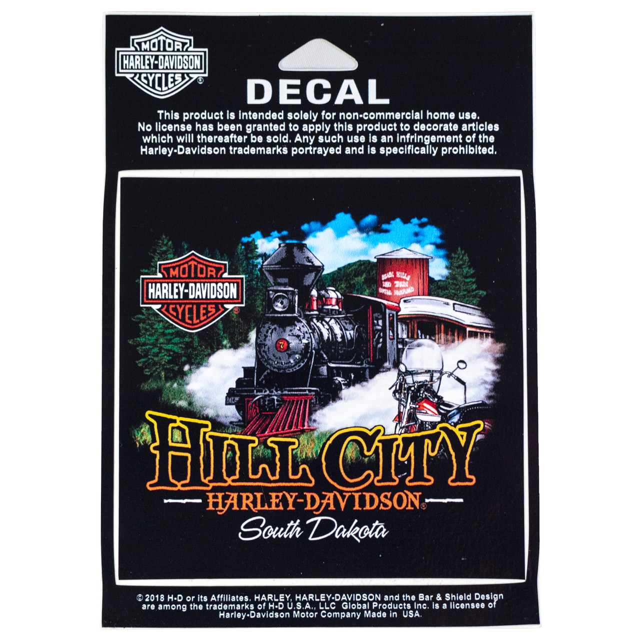 Hill City Harley-Davidson® 1880 Train Decal