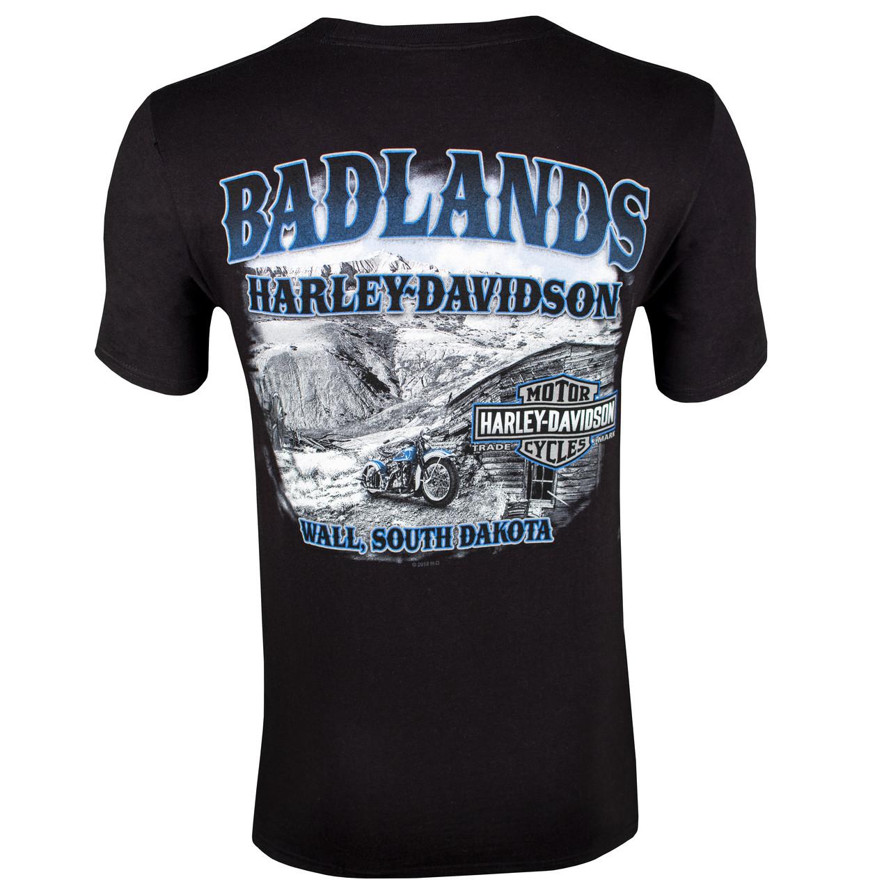 Badlands Harley-Davidson Men's Homestead Black Short Sleeve T-Shirt