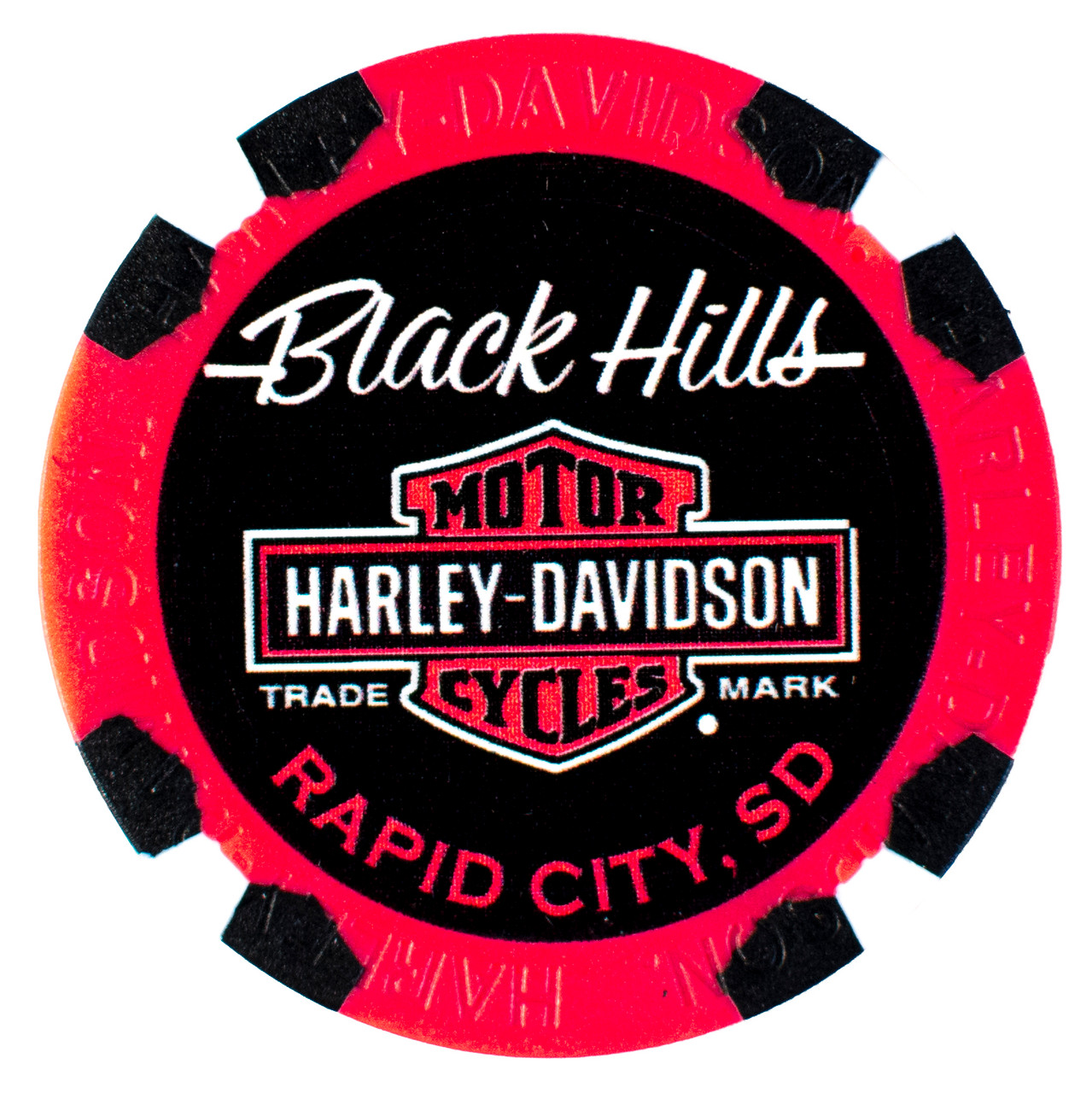 2019 Harley-Davidson® 79th Rally Pack of 5 Poker Chips (Sturgis, Black Hills, Deadwood, Badlands, Hill City)