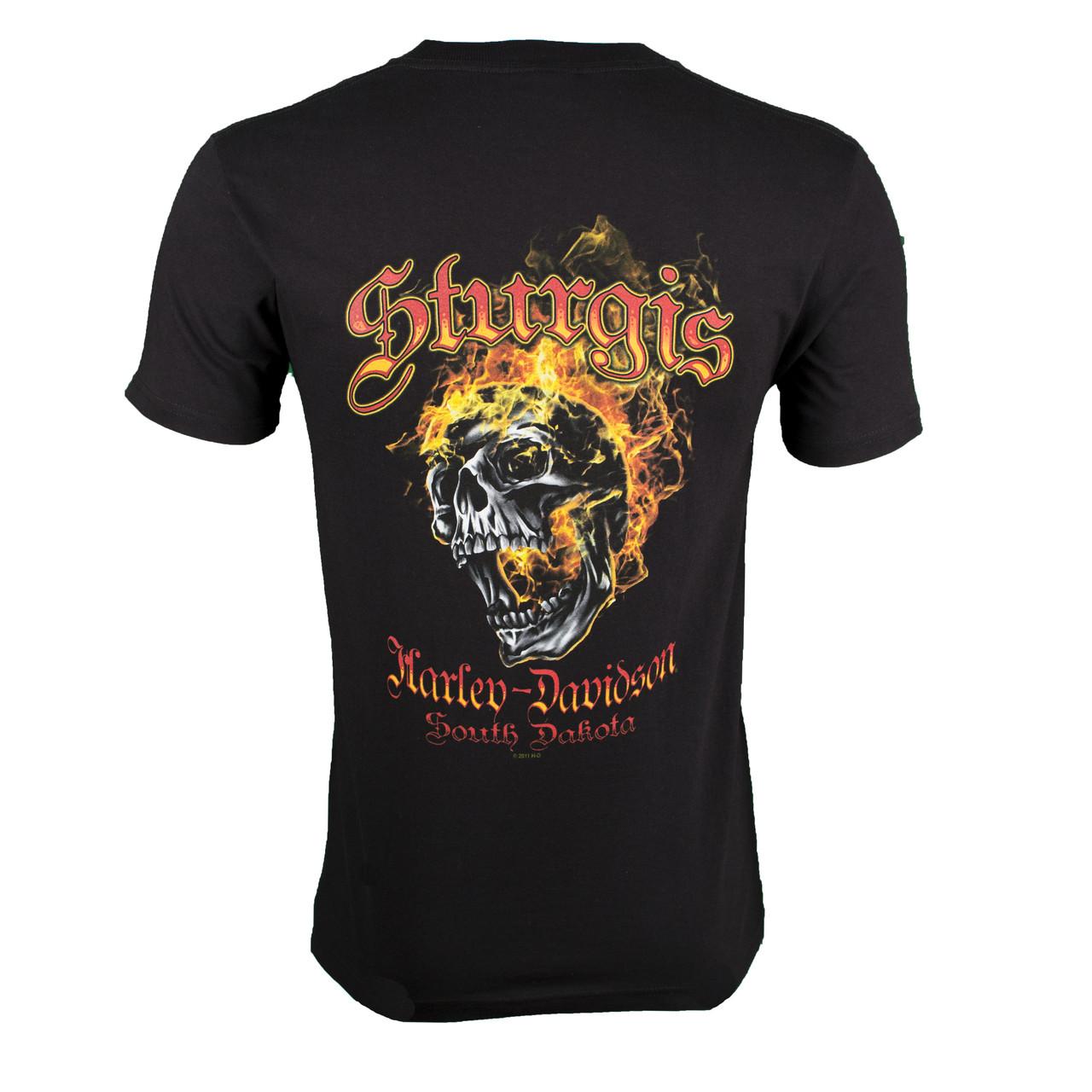 Sturgis Harley-Davidson® Men's Skull Edgy Black Short Sleeve T-Shirt