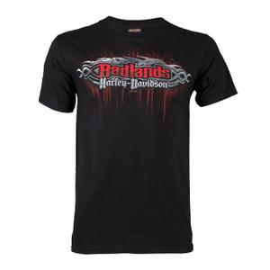 Harley Davidson HD Mens Badlands Road South Dakota Black Short Sleeve T-Shirt