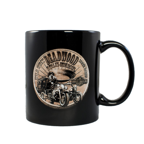 Deadwood Harley-Davidson® Bronze Coin Coffee Mug