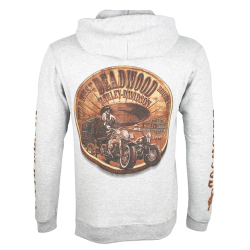Deadwood Harley-Davidson® Men's Bronze Coin Steel Heather PullOver Hoodie