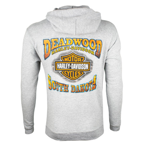 Deadwood Harley-Davidson® Men's Vintage Mint Steel Heather Pullover Hooded Sweatshirt