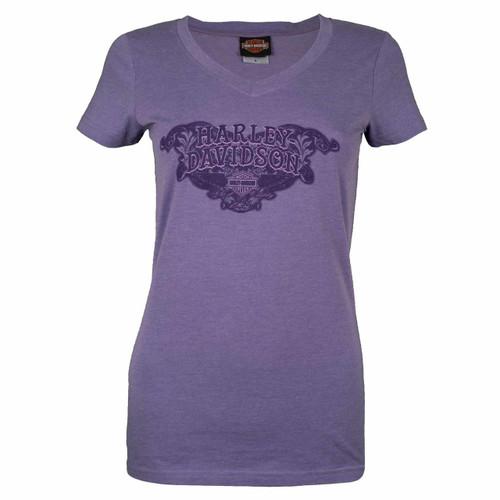 Sturgis Harley-Davidson® Women's Noble Purple V-Neck T-Shirt