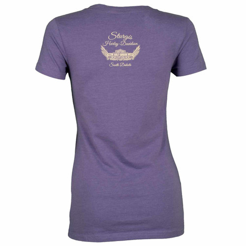 Sturgis Harley-Davidson® Women's Noble Purple V-Neck T-Shirt