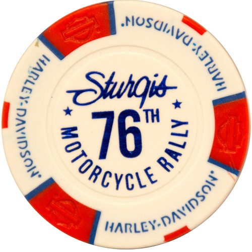 Harley-Davidson® 76th Rally Pack of 5 Poker Chips (Sturgis, Black Hills, Deadwood, Badlands, Hill City)