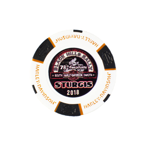Harley-Davidson® 78th Rally Pack of 5 Poker Chips (Sturgis, Black Hills, Deadwood, Badlands, Hill City)