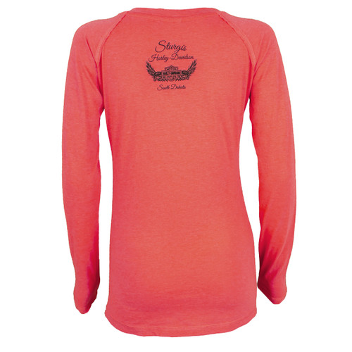 Harley-Davidson® Women's Lattice Long Sleeve Shirt