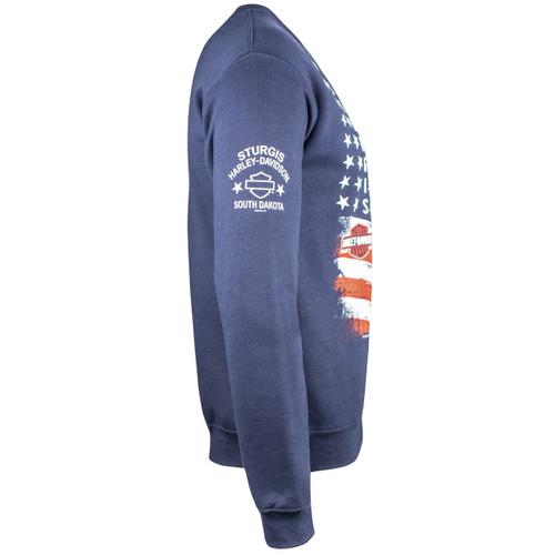 Sturgis Harley-Davidson® Men's Liberty Navy Crew Neck Sweatshirt