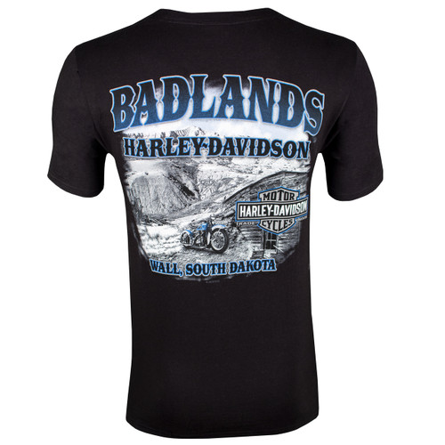 Badlands Harley-Davidson Men's Homestead Black Short Sleeve T-Shirt