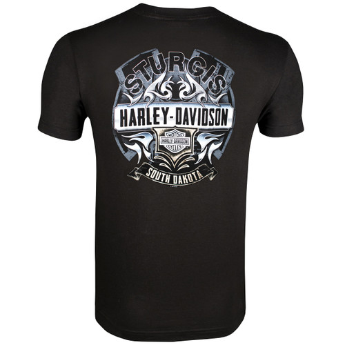 Sturgis Harley-Davidson Men's Steel Black Short Sleeve T-Shirt
