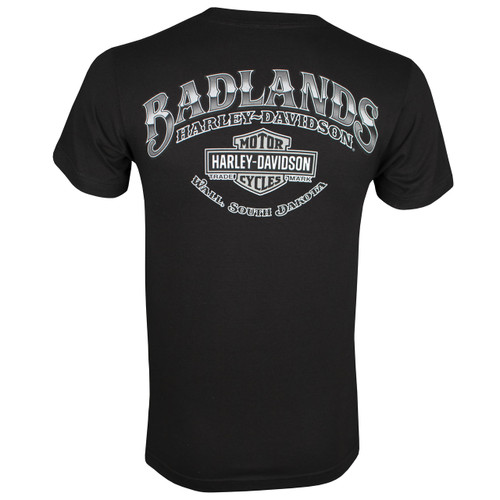 Badlands Harley-Davidson Men's Cowboy Black Short Sleeve T-Shirt