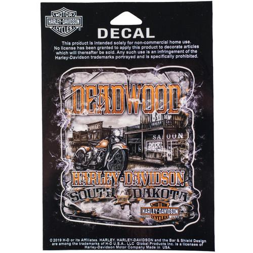 Deadwood Harley-Davidson Vintage Saloon Decal