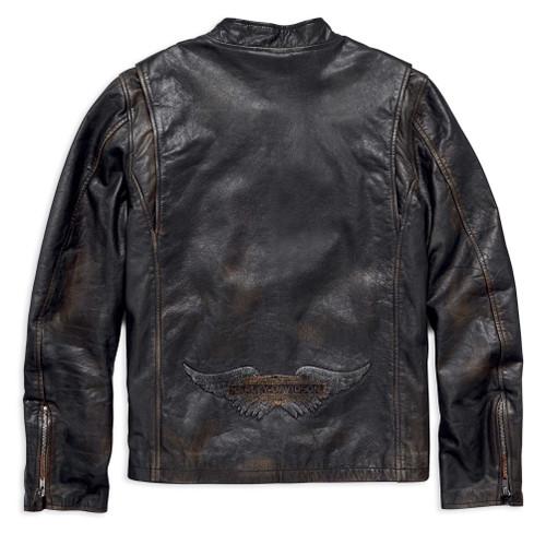 Harley-Davidson Men's Speed Distressed Slim Fit Leather Jacket 98004-18VM