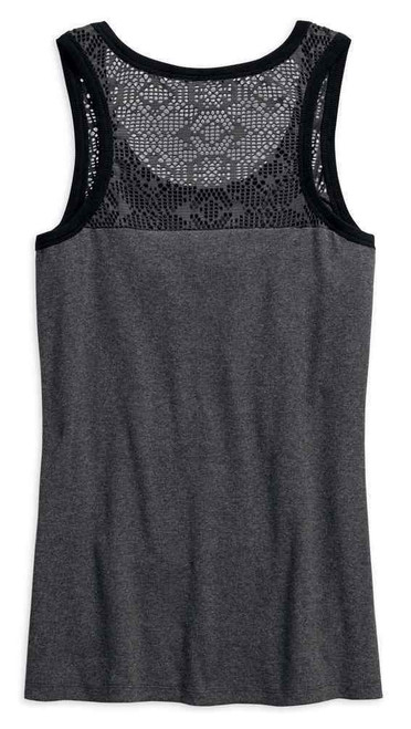 Harley-Davidson Women's Mesh Lace Accent Tank Top 96214-18VW
