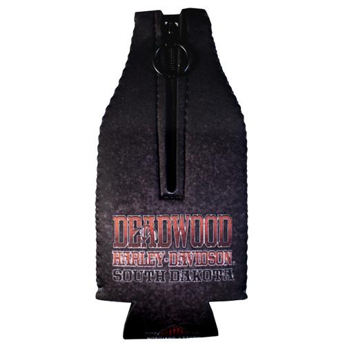 Deadwood Harley-Davidson Vintage Saloon Zip Bottle Coozie